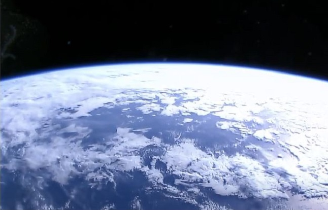 View of the clouds over earth