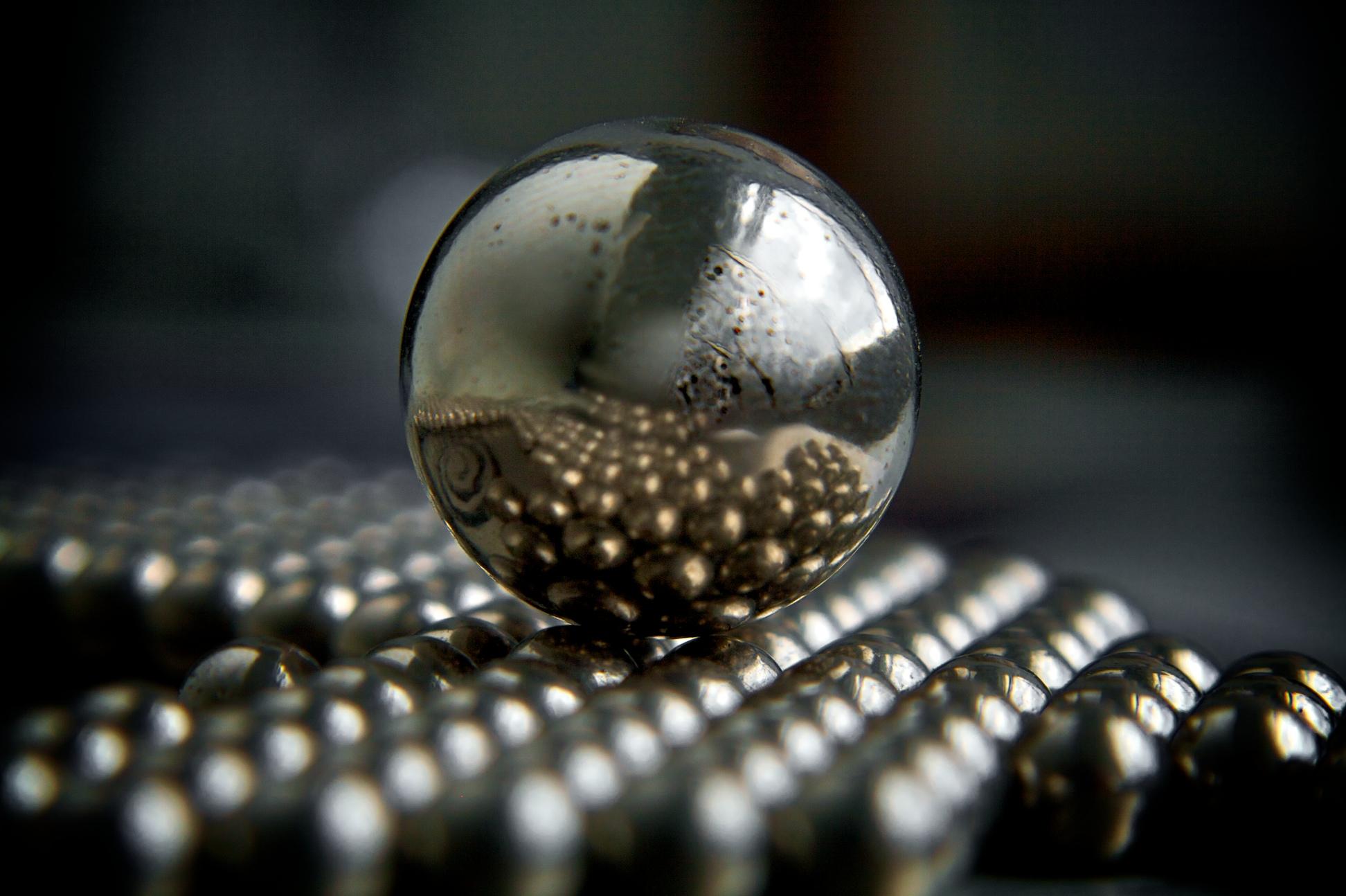 Fisheye lens effect on ball